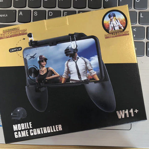 W11+ Game Controller Free Fire PUBG Mobile Joystick Gamepad Metal L1 R1 Button - RHIZMALL.PK Online Shopping Store.