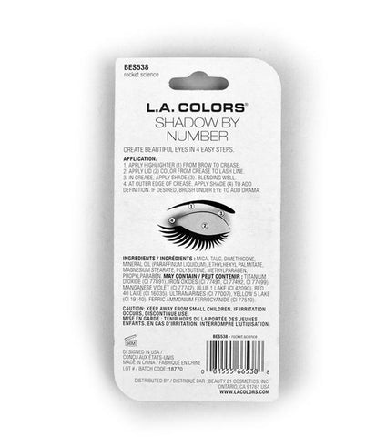 L.A. Colors Eye Shadow By Number with Tutorial - RHIZMALL.PK Online Shopping Store.