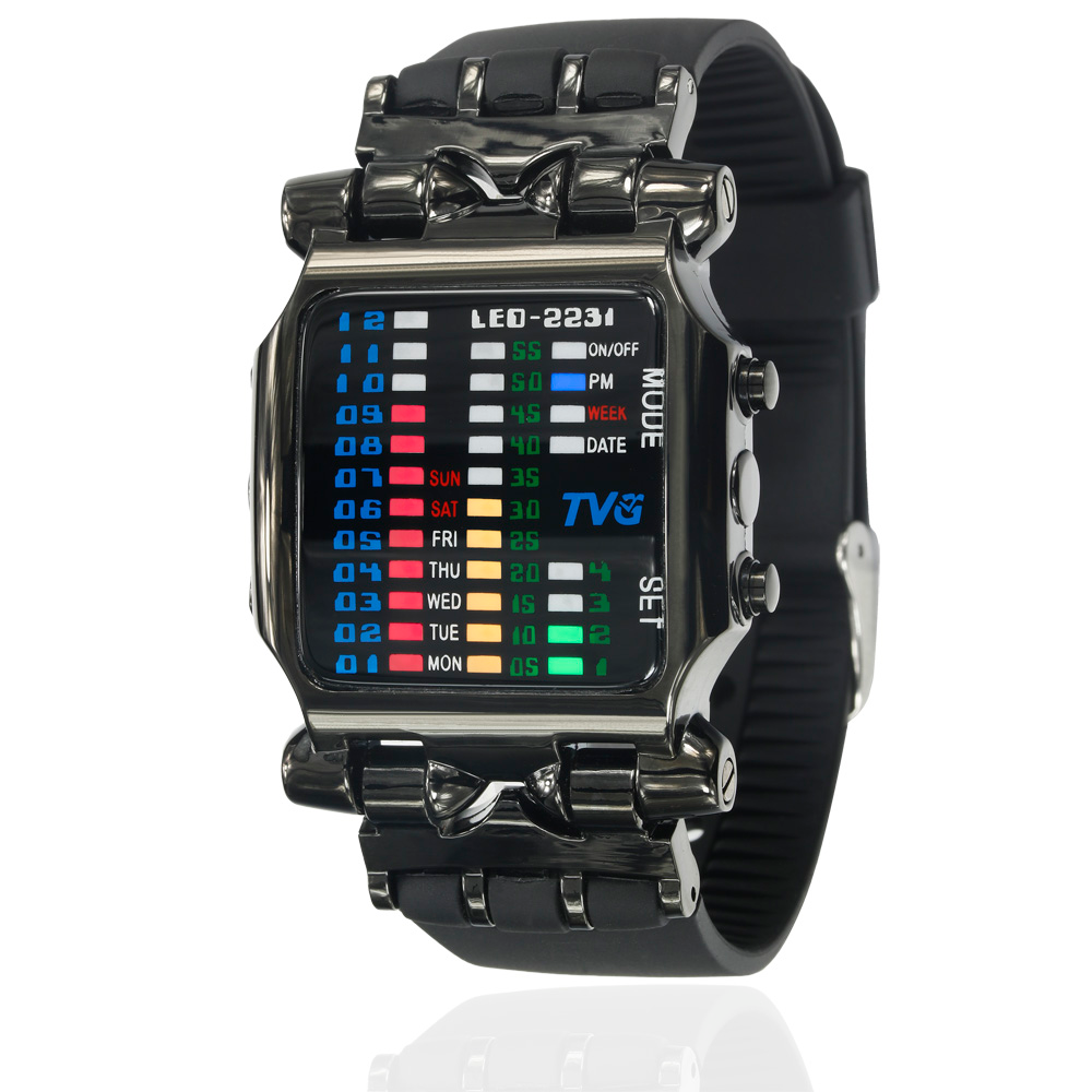 New brand TVG Rubber Band waterproof cool geek LED Digital Sports Watch - RHIZMALL.PK Online Shopping Store.