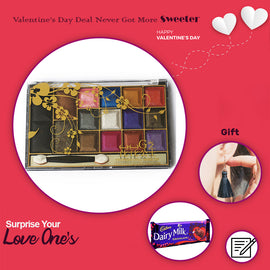16 Shade Eye Shadow kit And Palette with free Gift - RHIZMALL.PK Online Shopping Store.