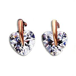 Cute Diamond Heart Stud Earring - RHIZMALL.PK Online Shopping Store.