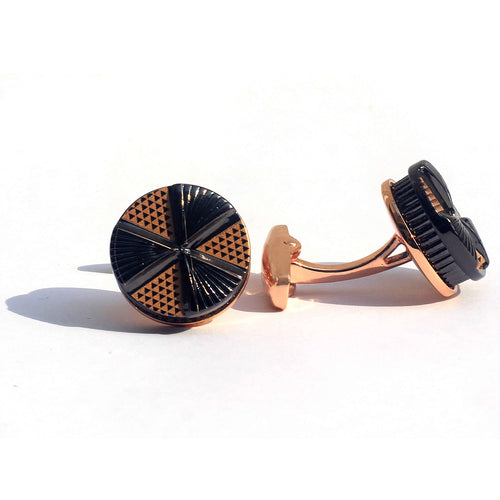 Golden Tri Wheel Cufflinks with Free Gift Packaging.