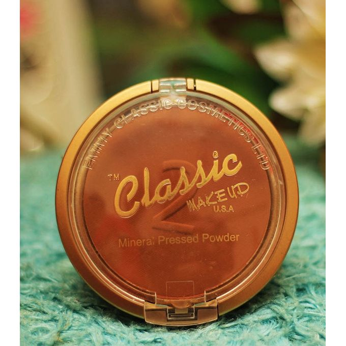 Classic Mineral Pressed Powder With Sponge - RHIZMALL.PK Online Shopping Store.
