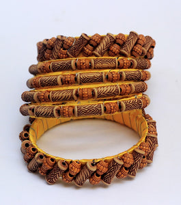 Set of 6 - Cocktail Wooden Hand Made Bracelet - RHIZMALL.PK Online Shopping Store.