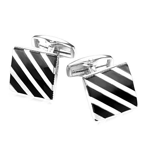 Pathère de Cartier Stripe Style Cufflink with Free Gift Packaging - RHIZMALL.PK Online Shopping Store.