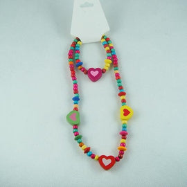 Melissa Multi Colour Heart Necklace and Bracelet Beads - RHIZMALL.PK Online Shopping Store.