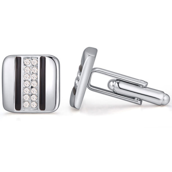 Fabergi Pearl Stainless Steel Cufflink - RHIZMALL.PK Online Shopping Store.