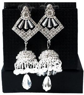 Silver Crystal Drop Earring - RHIZMALL.PK Online Shopping Store.