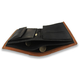 Brown Long Leather Wallet for Men