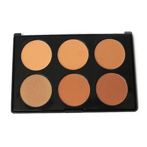 6 Colour Contour And Highlighting Powder Foundation Palette - RHIZMALL.PK Online Shopping Store.