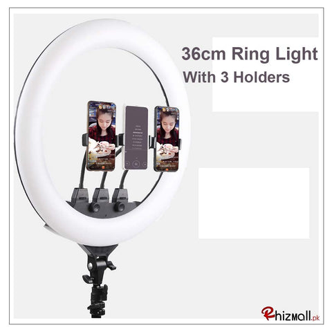 Selfie Ring Light with Tripod Stand & Cell Phone Holder for Live Stream Circle Lighting Ringlights