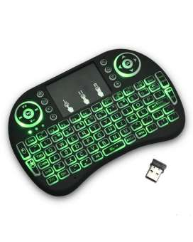 Mini Wireless Keyboard, Mini Touch Pad Rf 500 Wireless With 3 Colour Backlight Keyboard Mouse - RHIZMALL.PK Online Shopping Store.
