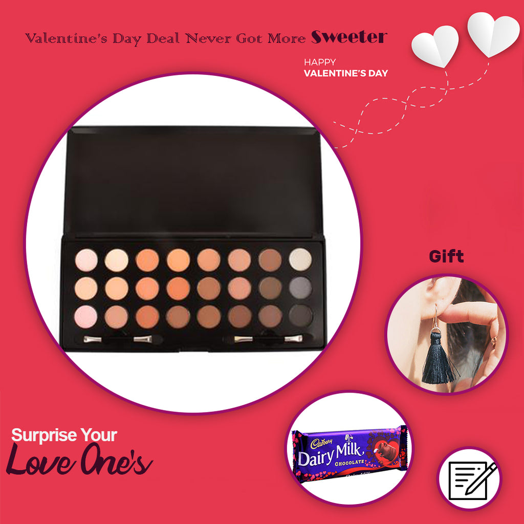 Beauty Women 24 Colours Eyeshadow With Free Gift - RHIZMALL.PK Online Shopping Store.