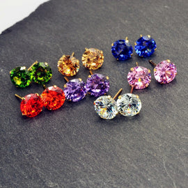 Solotaire Zircon Crystal Stud - RHIZMALL.PK Online Shopping Store.