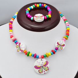 FaeryDae Multicolor Butterfly Circle Necklace and Bracelet - RHIZMALL.PK Online Shopping Store.