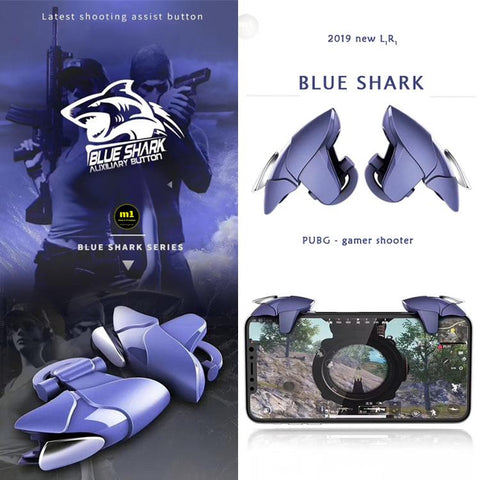 Blue Metal shark Mobile PUBG Fire Trigger - RHIZMALL.PK Online Shopping Store.