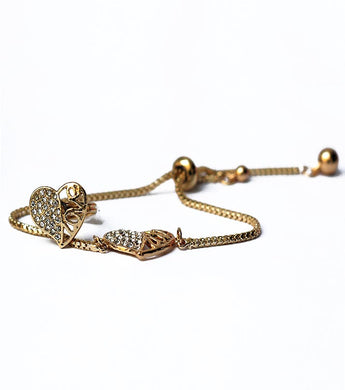 Love Heart Golden Zircon Bracelet and Ring - RHIZMALL.PK Online Shopping Store.