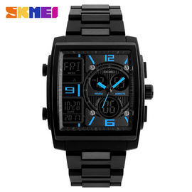 SKMEI Creative Sports Watches Men Stainless Steel Mesh Fashion - RHIZMALL.PK Online Shopping Store.