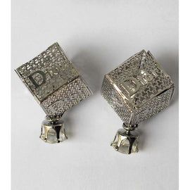 Silver Dior Alloy Earrings - RHIZMALL.PK Online Shopping Store.