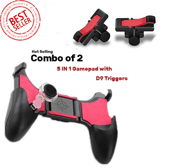 5 in1 Pubg Game Gamepad Trigger Fire Button joystick controller