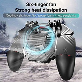 New AK77 Sixth Generation 4 Triggers Mobile Game Controller Sh00ter Trigger Cooling Fan  Game Joystick - RHIZMALL.PK Online Shopping Store.