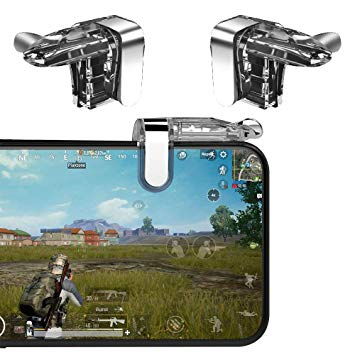 K03 Mobile Joystick Game Gamepad for PUBG Trigger Joysticks Shooting Game Fire Button Key Controller - RHIZMALL.PK Online Shopping Store.