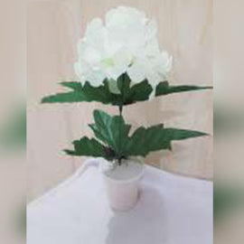Mini Flower Artificial Decoration Piece Best for home office-Off White Colour