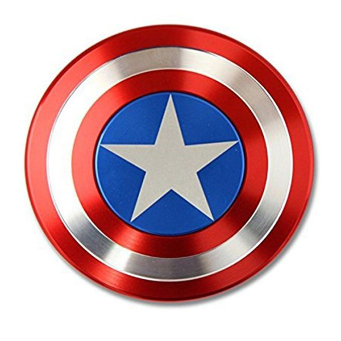 Captain America Ceramic Cube Bearing Fidget Spinner