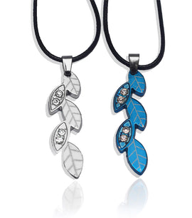 Blue and Silver Leaf Alloy Necklace - RHIZMALL.PK Online Shopping Store.