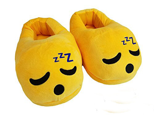 Emoji Slipper Sleepy Warm and Comfortable - RHIZMALL.PK Online Shopping Store.