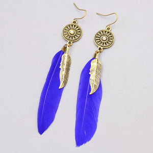 Feather Dangle Earring
