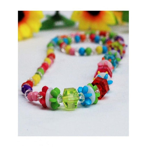 Multicolour Plastic Beads Necklace & Bracelet - RHIZMALL.PK Online Shopping Store.