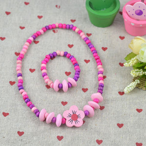 FaeryDae Pink Flower Necklace