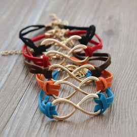Pair of 5 - Infinity Bracelet for Men and Women - RHIZMALL.PK Online Shopping Store.