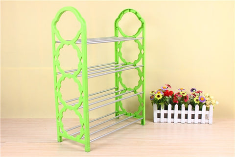 simple plastic shoe shoes containing multilayer shelf simple shoe rack combined rack - RHIZMALL.PK Online Shopping Store.