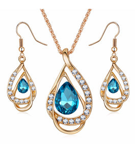 Elizabeth Ruby Jewellery Set - RHIZMALL.PK Online Shopping Store.