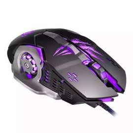 Gaming Mouse Gamer 6 Buttons Mechanical Design USB Optical Computer Mouse - RHIZMALL.PK Online Shopping Store.