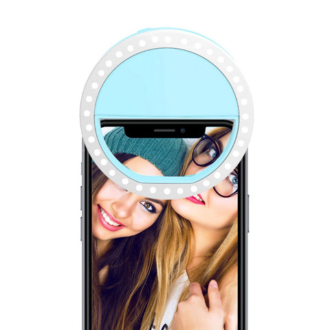 Aqua Selfie Ring Light for Any Cell Phone - RHIZMALL.PK Online Shopping Store.