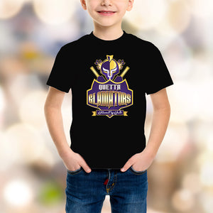 Quetta Gladiators Kids Black T-Shirt - RHIZMALL.PK Online Shopping Store.