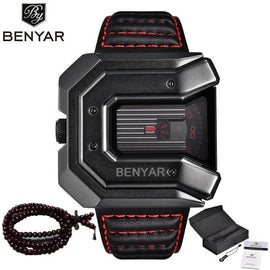 BENYAR Leather Sports Watch - RHIZMALL.PK Online Shopping Store.
