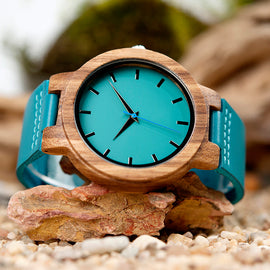 BoboBird Wood Luxury Leather Strap Watch - RHIZMALL.PK Online Shopping Store.