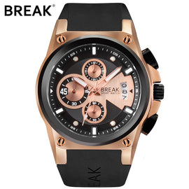 BREAK Luxury Rubber Band Watch - RHIZMALL.PK Online Shopping Store.