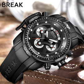 BREAK Rubber Band Sport Watch - RHIZMALL.PK Online Shopping Store.