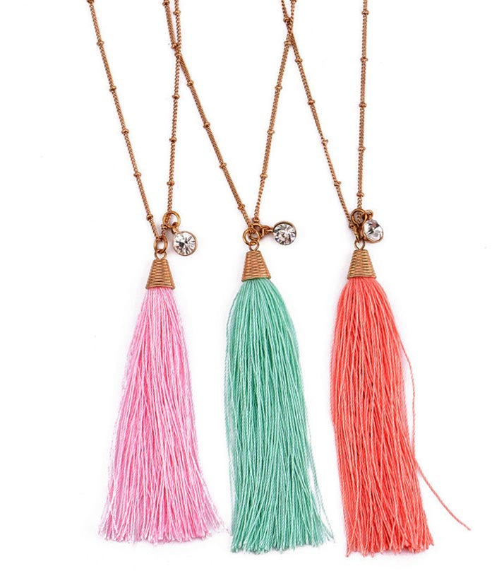 Pack Of 3- Melina Boho Tassel Necklace - RHIZMALL.PK Online Shopping Store.