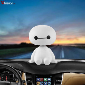 Baymax Car Ornament Shaking head Robot Doll