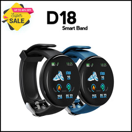 D18 Bluetooth Smart Watch IP67 Waterproof Sport Health Tracker | Rhizmall.pk - RHIZMALL.PK Online Shopping Store.