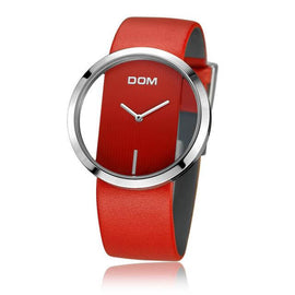 DOM Waterproof Fashion Casual Unique Lady Watches - RHIZMALL.PK Online Shopping Store.