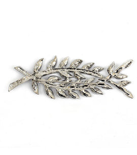 Corsica Silver Leaf Brooch - RHIZMALL.PK Online Shopping Store.