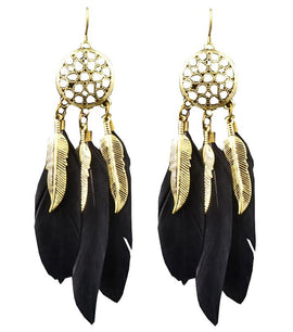 Dream Catcher Feather Earring - RHIZMALL.PK Online Shopping Store.