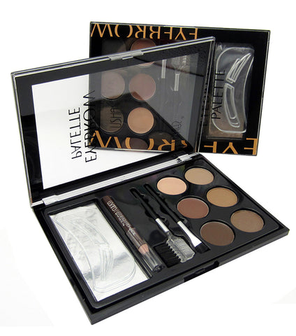 Ushas Eyebrow Palette With Eye Pencil, Eyeshadow And Tweezer - RHIZMALL.PK Online Shopping Store.